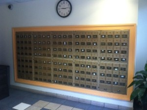Individual mail box per room